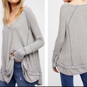 Free people gray long sleeve top